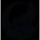 Наклейка «Воющий волк»