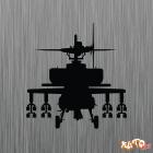 Наклейка «Ударный вертолет Apache v2»