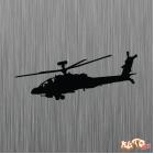 Наклейка «Ударный вертолет Apache v3»