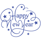 Наклейка «Happy New Year»