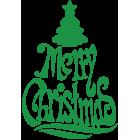 Наклейка «Merry Christmas»