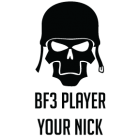 Наклейка «BF3 Player»