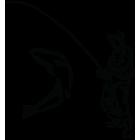 Наклейка «Рыбак v3»