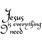 Наклейка «Jesus Is Everything I Need»