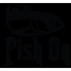 Наклейка «Fish On v2»
