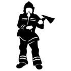 Наклейка «Пожарный v2»