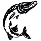 Наклейка «Щука v5»