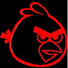 Наклейка «Angry Birds v3»