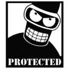 Наклейка «Bender Protected»