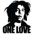 Наклейка «Bob Marley One Love»