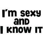 Наклейка «I'm sexy...»