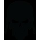 Наклейка «Череп солдата»