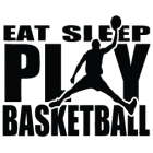 Наклейка «Eat Sleep Play Basketball»