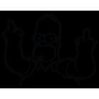 Наклейка «Homer Simpson F»