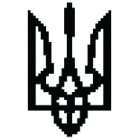 Наклейка «Тризуб Pixel Style»