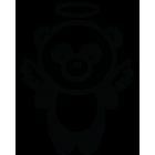 Наклейка «Панда Ангел»