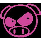 Наклейка «JDM Pig Angry v2»