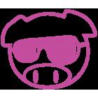 Наклейка «JDM Pig Sunglasses»