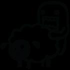 Наклейка «Domo-kun и овца v2»
