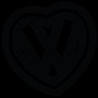 Наклейка «VW Heart»