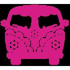 Наклейка «VW Bus Hippy Style»