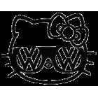 Наклейка «Hello Kitty Volkswagen»