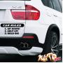 Наклейка «Car Rules»