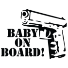Наклейка «Baby on Board v3»