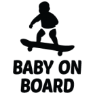 Наклейка «Baby on Board Surfer»