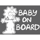 Наклейка «Baby on Board v16»