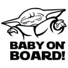 Наклейка «Baby Yoda on Board»