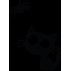 Наклейка «Кот и паук»