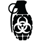 Наклейка «Biohazard Gren»