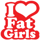 Наклейка «I Love Fat Girls»