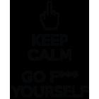 Наклейка «Keep calm & go f*** yourself»