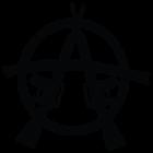 Наклейка «Анархия М-16»