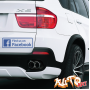 Наклейка «Find Us on Facebook»