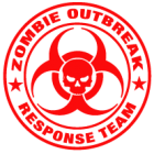 Наклейка «Zombie Outbrake Response Team»