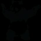 Наклейка «Панда Бэнкси»
