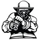 Наклейка «Пожарный v6»