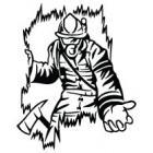 Наклейка «Пожарный v7»