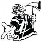Наклейка «Пожарный v8»