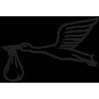 Наклейка «Аист со свертком»