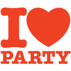 Наклейка «I Love Party»