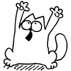 Наклейка «Кот Саймона v12»