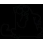 Наклейка «Кот Саймона v28»