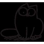 Наклейка «Кот Саймона v29»
