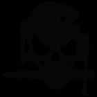 Наклейка «Череп солдата v3»