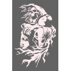 Наклейка «Смерть и девушка»