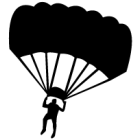 Наклейка «Парашютист v14»